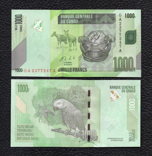 Congo Democratic Republic P-NEW 2013 1000 Francs - Crisp Uncirculated
