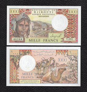 Djibouti P-37e ND1979,1988 1000 Francs - Crisp Uncirculated
