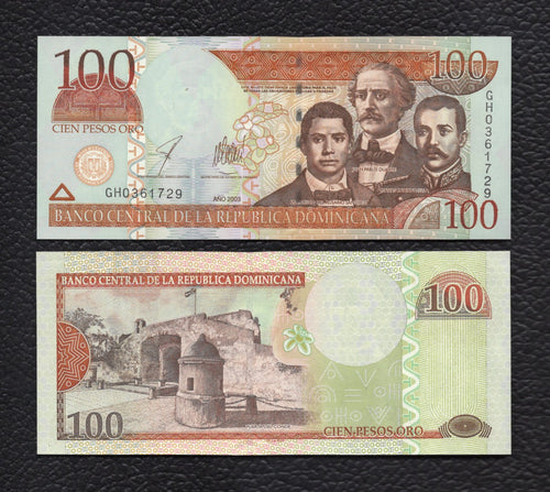 Dominican Republic P-171 2003 100 Pesos - Crisp Uncirculated