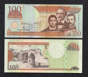 Dominican Republic P-177b 2009 100 Pesos - Crisp Uncirculated