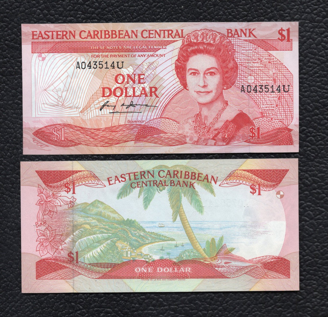 East Caribbean States P-21U ND(1988-89) 1 Dollar- Uncirculated