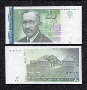 Estonia P-87b 2007  25 Krooni - Crisp uncirculated