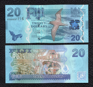 Fiji P-117 ND(2013)  20 Dollars - Crisp Uncirculated