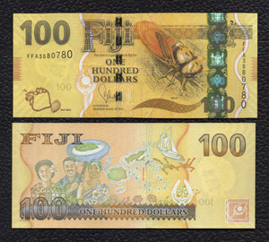 Fiji P-119 2012(2013) 100 Dollars - Crisp Uncirculated