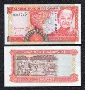 Gambia P-20c ND(2001) Sign. 15  5 Dalasis - Crisp Uncirculated