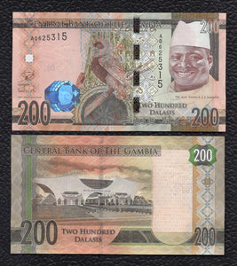 Gambia P-36 ND  (2015) 200  Dalasis - Crisp Uncirculated