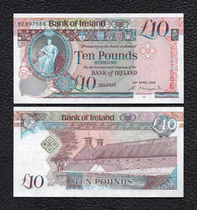 Ireland P-84  4.20.2008 10 Pounds - Crisp Uncirculated