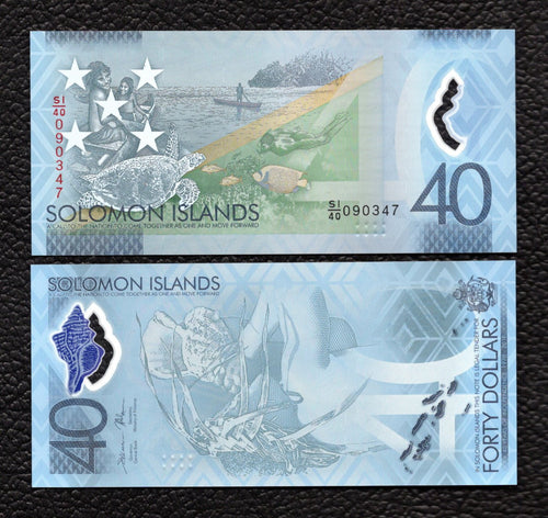 Solomon Islands P-NEW  2018 Polymer Plastic 40 Dollars - Crisp Uncirculated