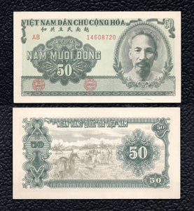 Viet Nam P-61a  1951  50 Dong - Almost Uncirculated