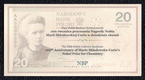 Poland P-182b 2011 20 Zlotych - Crisp Uncirculated in Commemorative Folder