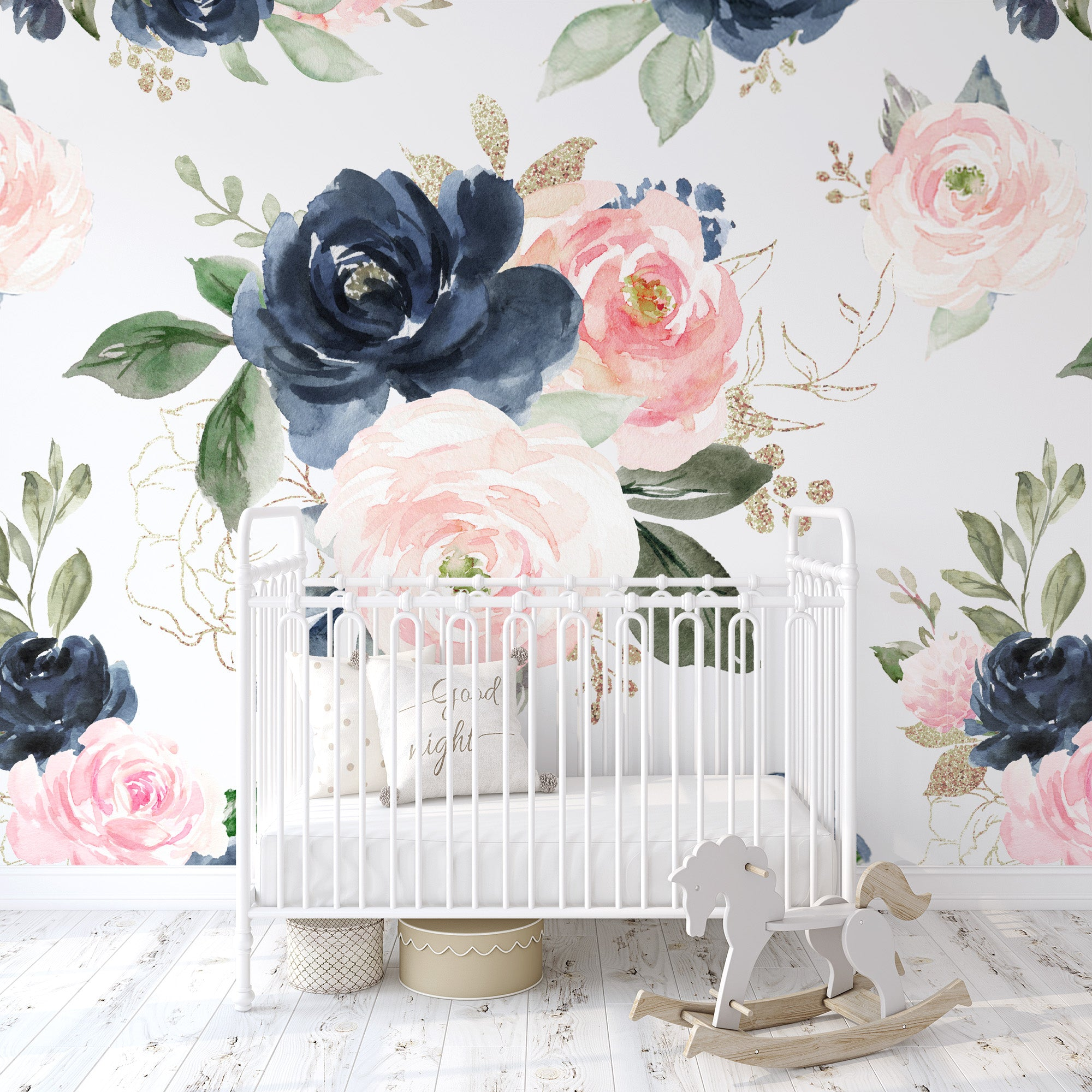 Navy Pink Wallpaper Baby Maes