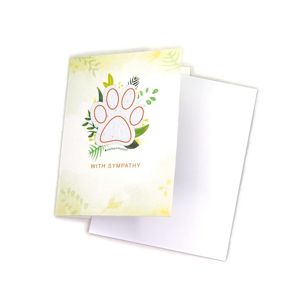 Seeded Paw Card, With Sympathy