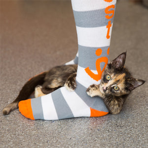 Striped Knee-high Socks