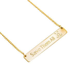 Save Them All Bar Necklace