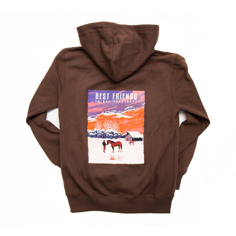 Sanctuary Art Hoodie, Winter Horse (XL)