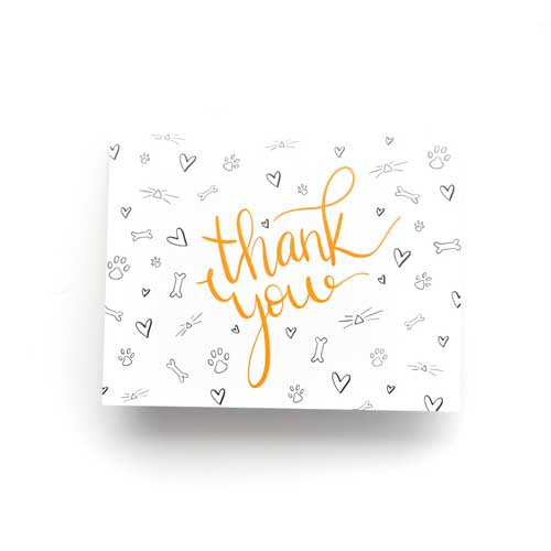 Thank You Cards - White - 6 pk