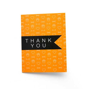 Thank You Cards - Orange - 6 pk