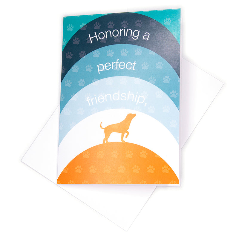 Sympathy Card, Rainbow Dog