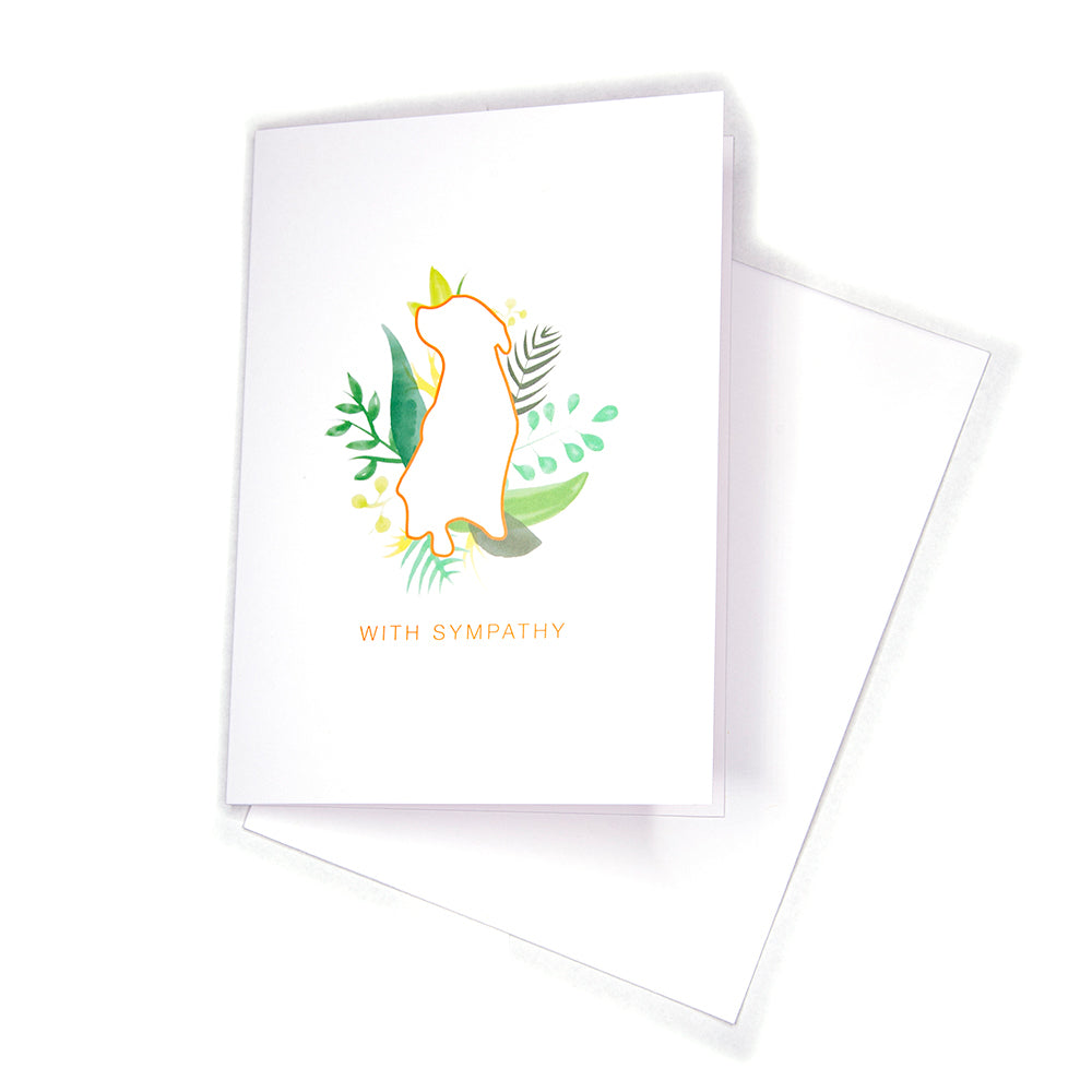 Sympathy Card, Greenery Dog