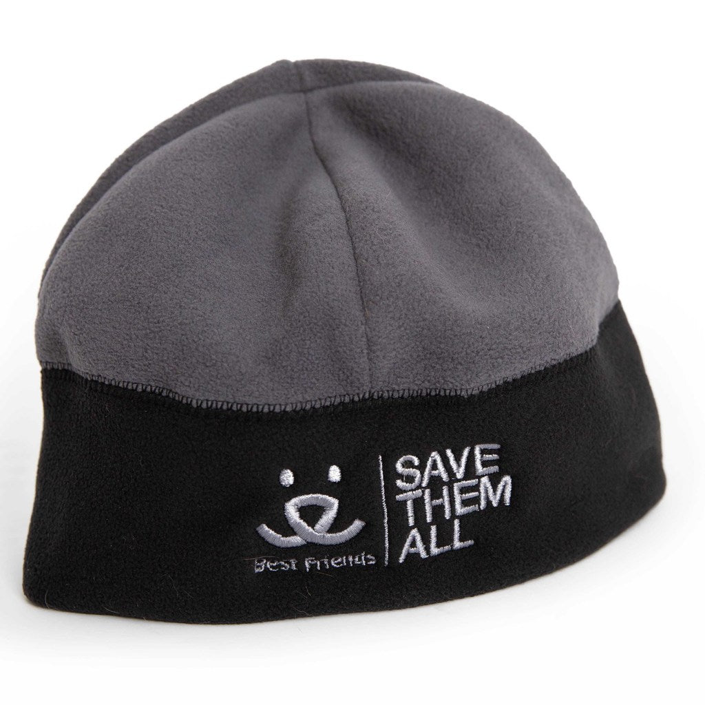 Kit's Fleece Beanie, Black/Charcoal