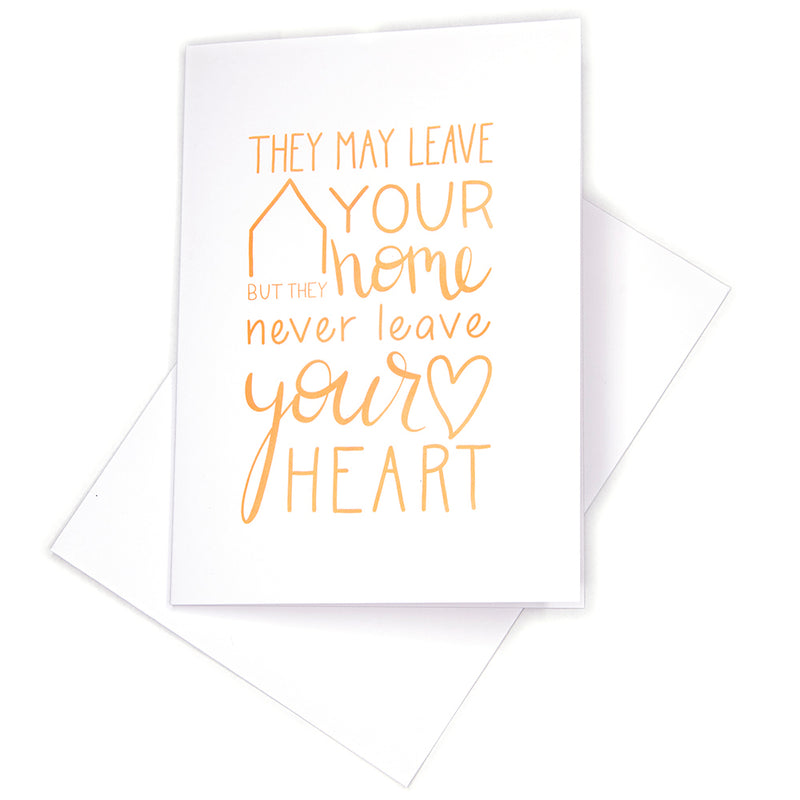 Sympathy Card, Never Leave
