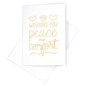 Sympathy Card, Peace & Comfort