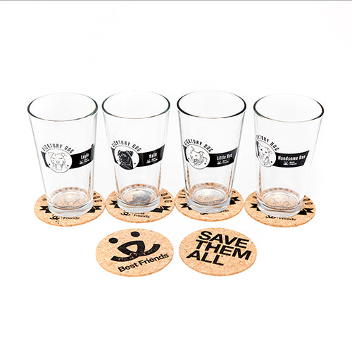 Vicktory Dogs Pint Glass and Coaster Collection