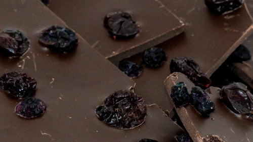 Dark Chocolate Bark with Cherries & Blueberries (4 oz.)