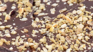Milk Chocolate Bark with Hazelnut Croquant & Vanilla Salt