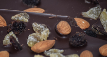 Load image into Gallery viewer, Dark Chocolate Bark with Ginger, Almonds, & Raisins (4 oz.)