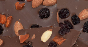 Milk Chocolate Bark with Almonds, Cherries & Apricot