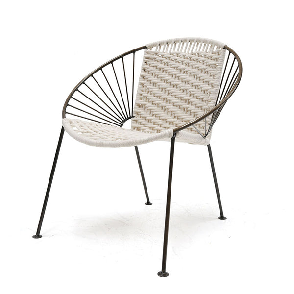 Ixtapa J Chair Brass + Cotton