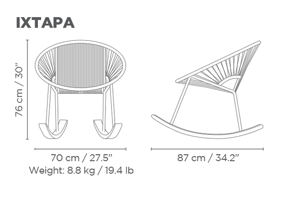 Awesome Ixtapa Rocking Chair Shop The Moon Pdpeps Interior Chair Design Pdpepsorg