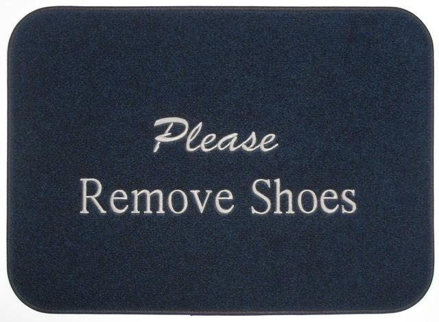 Please Remove Shoes Boat Mat