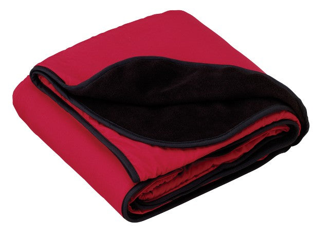 Fleece and Nylon Travel Blanket