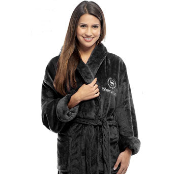 Microfleece Shawl Collar Robe