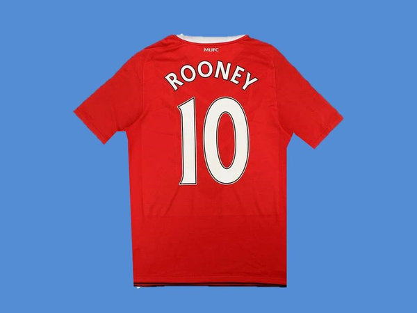 MANCHESTER UNITED 2010 2011 ROONEY 10HOME  JERSEY