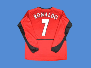 MANCHESTER UNITED 2002 2004 RONALDO 7 HOME JERSEY