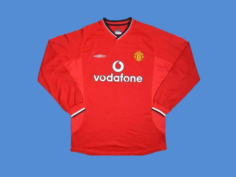 MANCHESTER UNITED  2000 2001 HOME JERSEY LONG SLEEVE