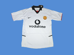 MANCHESTER UNITED 2003 2004  AWAY WHITE JERSEY