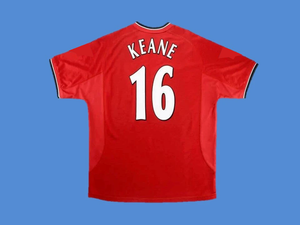 MANCHESTER UNITED  2000 2002 KEANE 16 HOME JERSEY