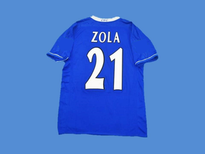 CHELSEA 2003 2005 ZOLA 21 HOME JERSEY