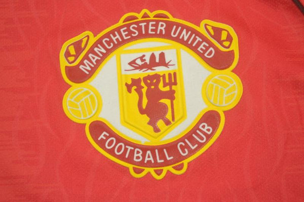 MANCHESTER UNITED 1990 1992 HOME  JERSEY