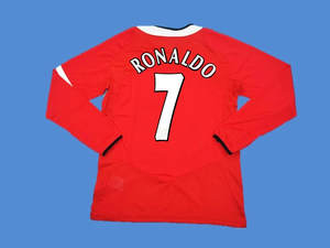 MANCHESTER UNITED 2005 2006 RONALDO 7  LONG SLEEVE HOME JERSEY