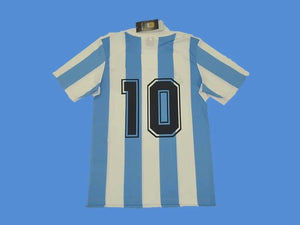 ARGENTINA 1986 NUMBER 10 WORLD CUP HOME  JERSEY