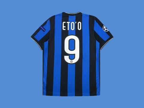 INTER MILAN 2010 ETO'O 9 UCL FINAL HOME JERSEY