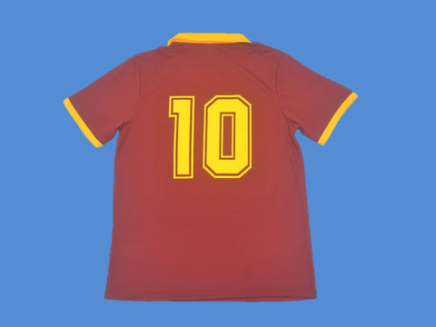 AS ROMA 1989 1990 NUMBER 10 HOME JERSEY