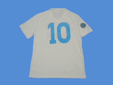 NAPOLES NAPOLI 1987 1988 NUMBER 10 AWAY JERSEY