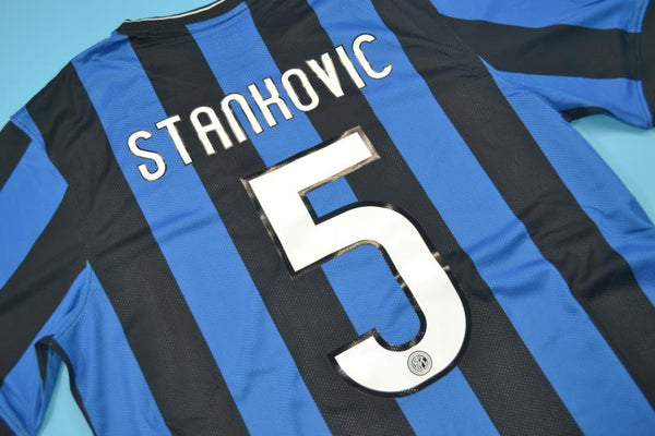 INTER MILAN 2010 STANKOVIC 5 UCL FINAL HOME JERSEY
