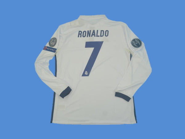 REAL MADRID 2016 2017 HOME JERSEY RONALDO 7 UCL LONG SLEEVE